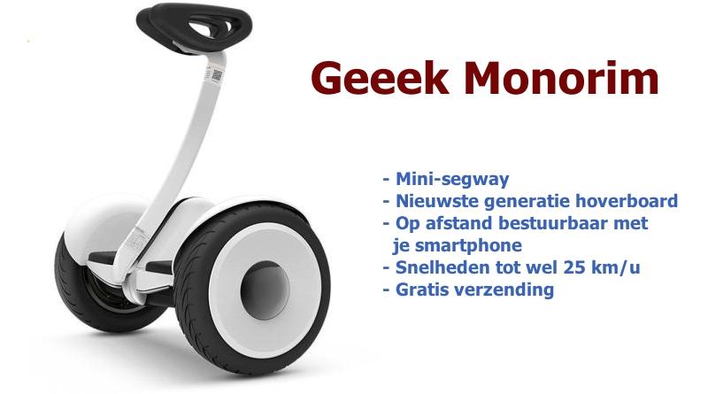 De GEEEK Monorim heeft een bereik van 20 kilometer.