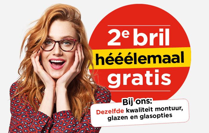 Bij Hans Anders tweede bril helemaal gratis!